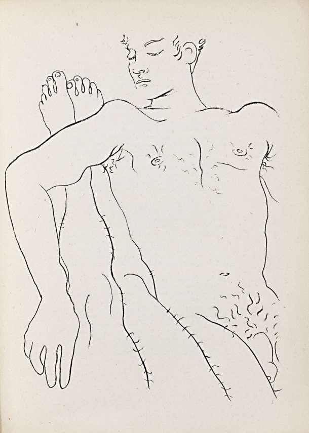 Jean-Cocteau,-llustration-zu-Jean-Genet