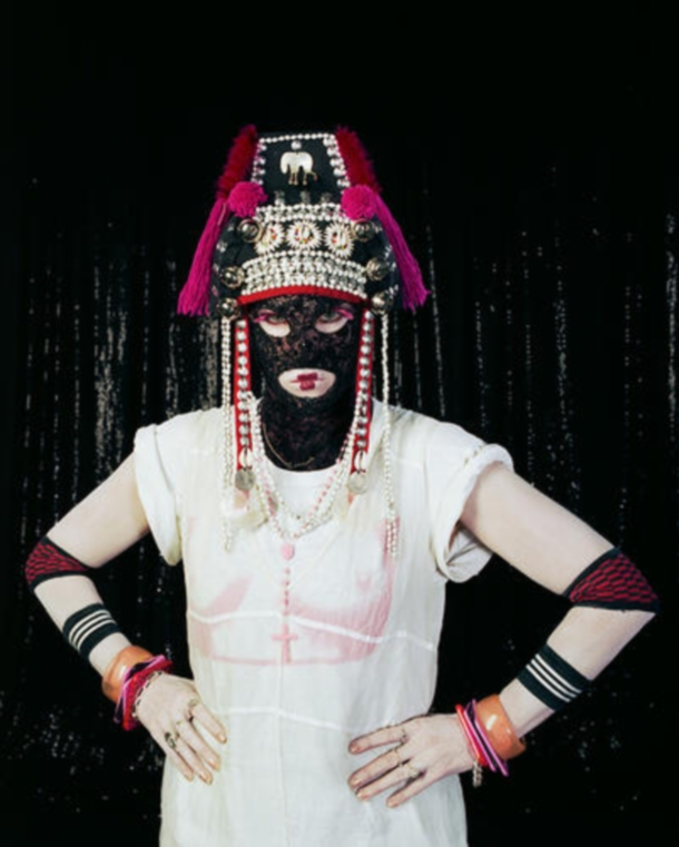 Frontal View No.4 of White British Female, UK born-'Feral', London – Self Portrait, 2007 (c) Caron Geary aka Feral Is Kinky