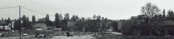 Ulica Antima Lazureanua u vrijeme rušenja