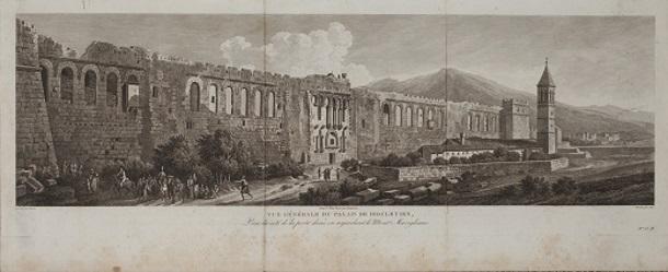 Povijesni prikaz zidina - Muzej grada Splita