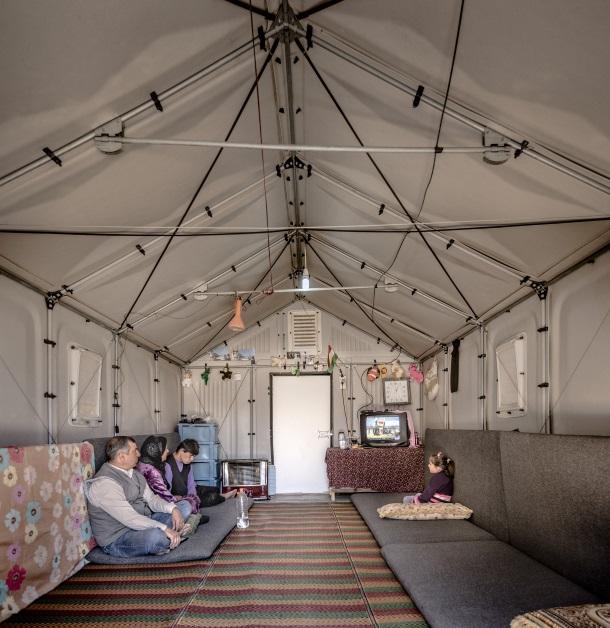 Better Shelter housing units in Kawergosk, Iraq.