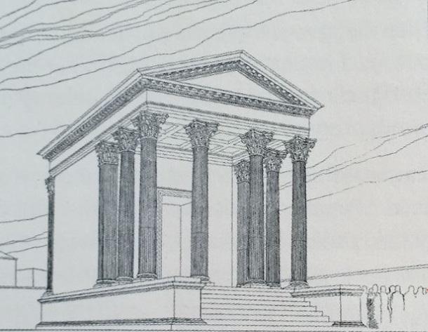 Dyggve_Rekonstrukcija malog hrama kod teatra u Saloni 1933