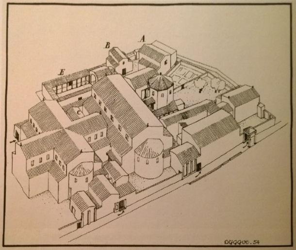 E_Dyggve_Rekonstrukcija Episkopalnog sklopa u Saloni_1954