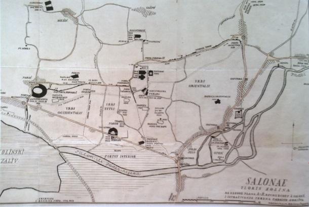 E_Dyggve_Topografska karta Salone 1933_Arheološki muzej u Splitu