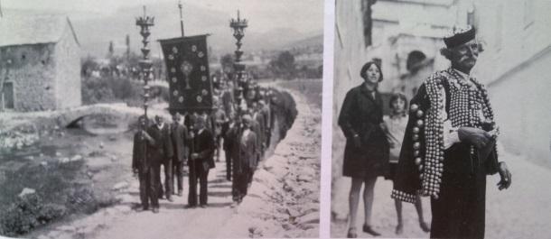Solin_Procesija uz rijeku Jadro_1930 i Knin_Muškarac u narodnoj nošnji_1930