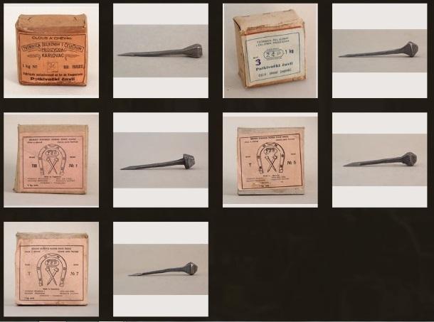 Kutije i različiti čavli za potkivanje