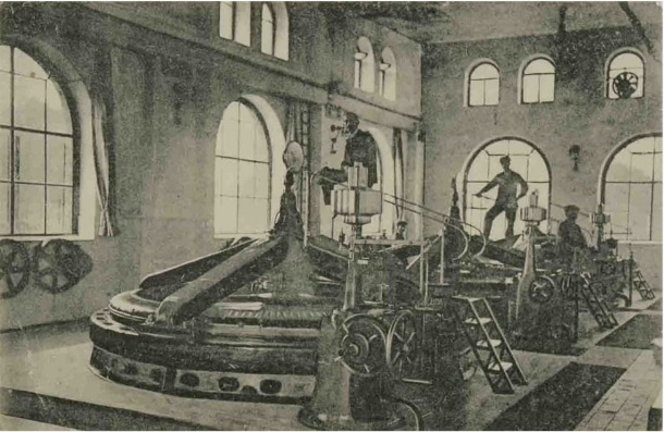 Unutrašnjost Električne centrale u Ozlju_izdavač L. Reich